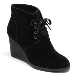 Lucky Brand Swayze Lace-up Wedge Suede Bootie